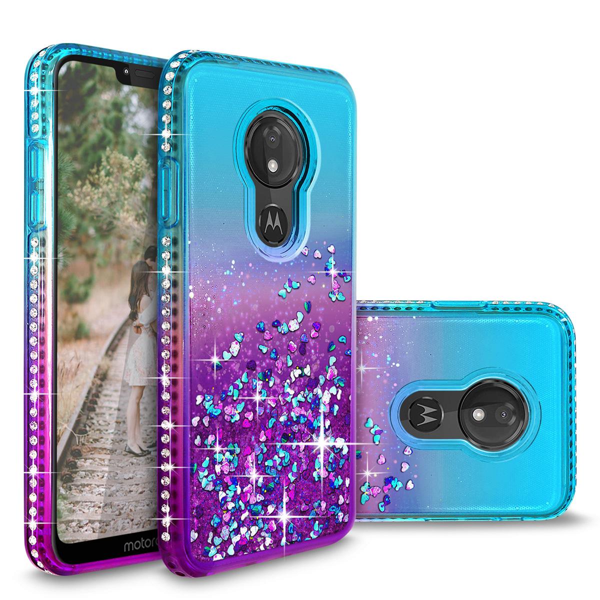For Motorola Moto G7 Power Floating Shiny Glitter Liquid Bling Phone Case Cover Ebay